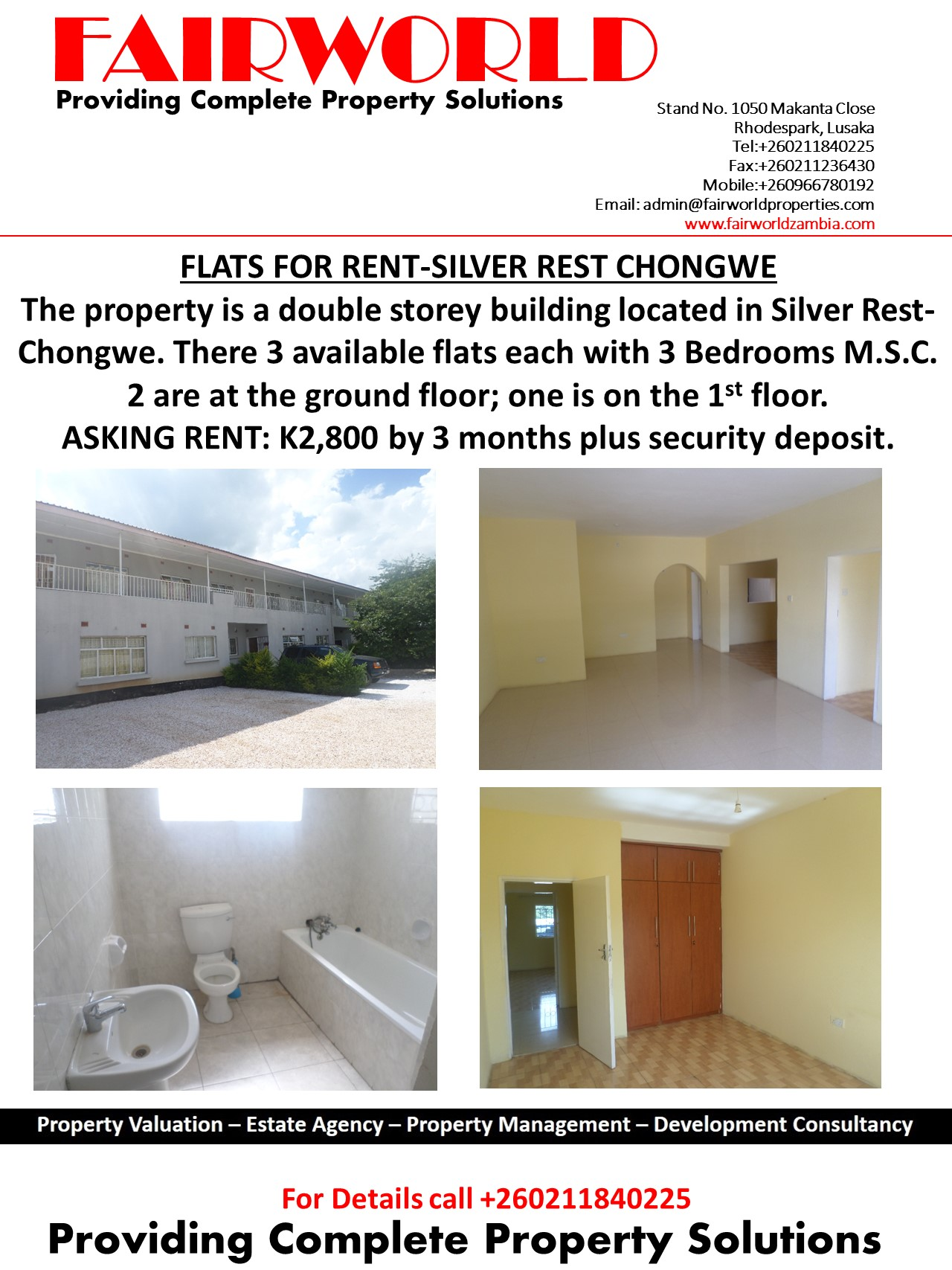 SILVER REST FOR RENT